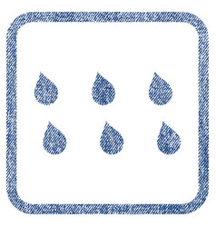 Drops fabric textured icon vector
