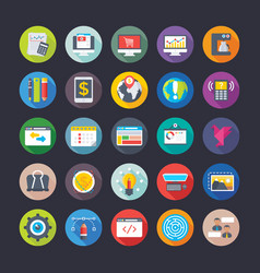 Business and office icons 17 vector