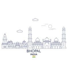 Bhopal city skyline vector