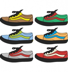 Retro shoes vector