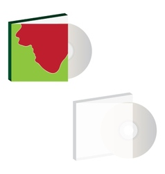 Cd with cover design vector image
