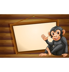 Monkey and sign vector