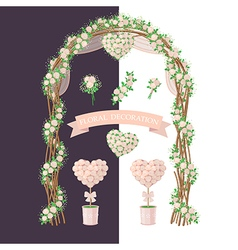 Floral decoration rose vector