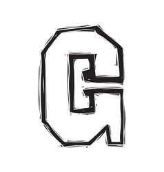 The vintage style letter G vector image