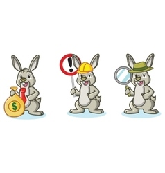 Light green bunny with money vector