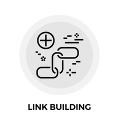 Link building line icon vector