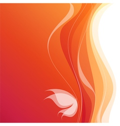 Butterfly - orange wavy background vector image