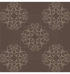 Abstract victorian orient ethnic pattern vector
