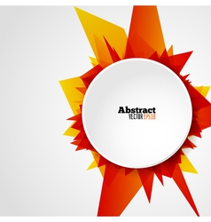 Abstract bright orange geometric shape background vector