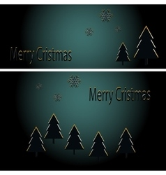Abstract golden christmas card vector image
