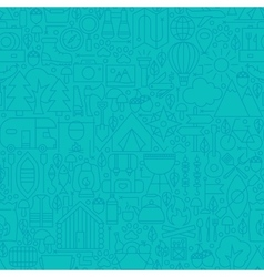 Adventure camp line tile pattern vector