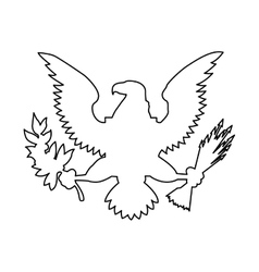 American eagle emblem isolated icon design vector