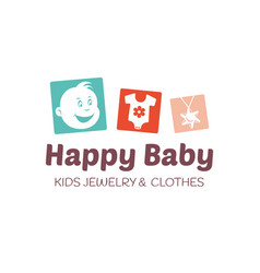 Baby shop logo template vector