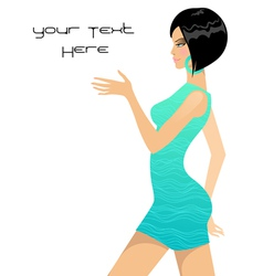 beautiful girl fashion style vector image vector image
