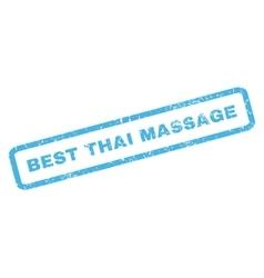 Best Thai Massage Rubber Stamp vector image