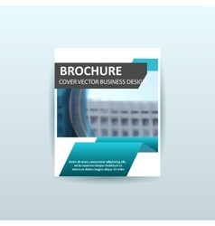 business brochure flyer design template a4 vector image