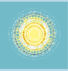Concept abstract sun design element vector