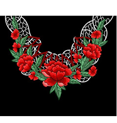 Embroidery design for collar vector