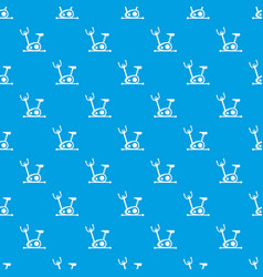 Exercise bike pattern seamless blue vector