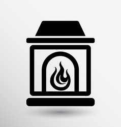 Fireplace icon button logo symbol concept vector