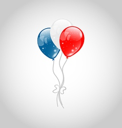 Flying balloons in american flag colors vector image