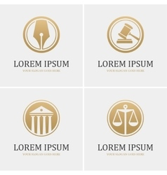Four round law logo vector