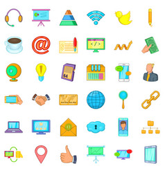 Good company icons set cartoon style vector