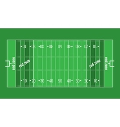 Grass textured american football field vector