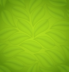 Green leaves texture eco friendly background vector image vector image