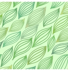 Green seamless pattern with stylized leaves vector image vector image