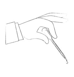 Hand with dropper for urine test vector