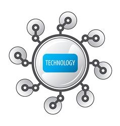 Logo round robot legged vector