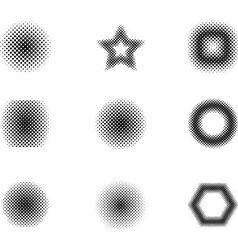 Logo shape set 3d style vector image vector image