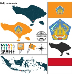 Map of Bali vector image vector image