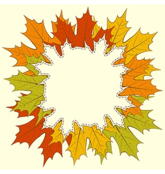 Maple Leaf Frame vector image vector image