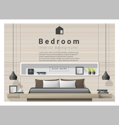 Modern bedroom background Interior design 1 vector image vector image