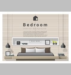 Modern bedroom background Interior design 1 vector image