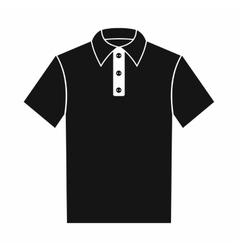 Polo shirt icon simple style vector