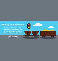 railway transportation banner horizontal concept vector image