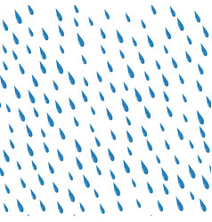 Rain drops on a white background isolated seamless vector