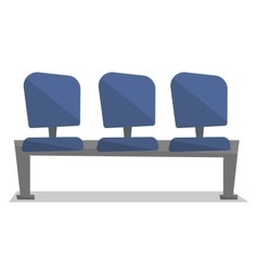 Row of blue chairs vector image vector image