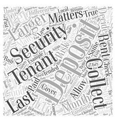 Security deposit matters word cloud concept vector