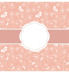 Springtime greeting card vector