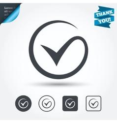 Tick sign icon Check mark symbol vector image