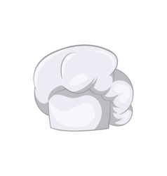 White chef hat icon cartoon style vector image