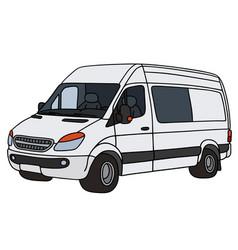 White delivery minivan vector