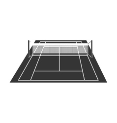 Tennis court field game sport icon vector