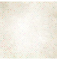 Aged and worn paper with polka dots eps 10 vector