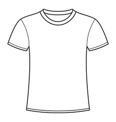 Blank white t-shirt template vector
