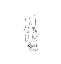 ballet school logo design theatre performance vector image